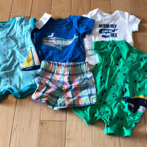 3c23c63ec Carter's Matching Sets | 5 Items Rompers Shorts And Shirts Size Nb ...